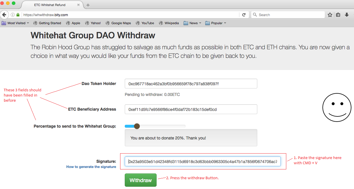 How To Use sign() for the Whitehat Withdrawal